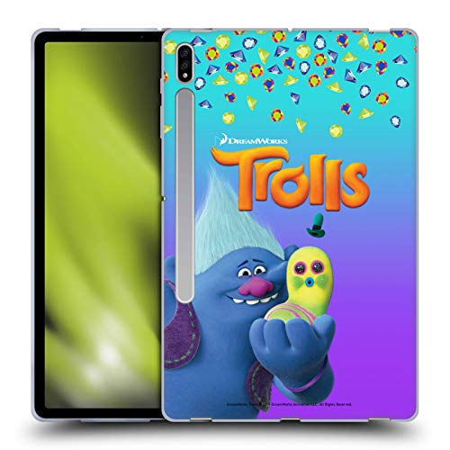Official Trolls Biggie & Mr. Dinkles Snack Pack Soft Gel Case Compatible for Galaxy Tab S7+ / Tab S7 Plus