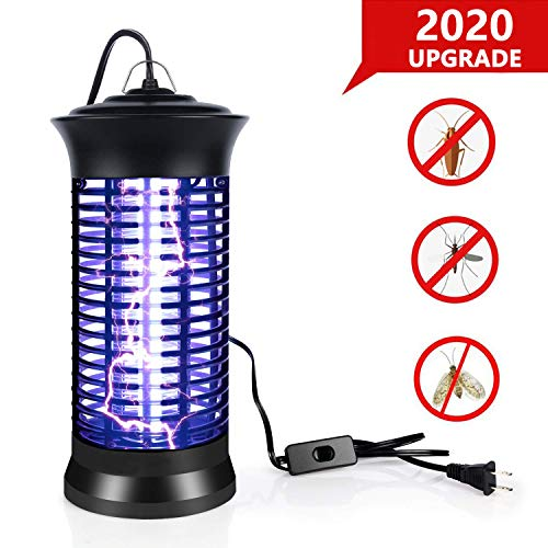 BUGMASTER UV Insect Killer, 2020 New Upgrade Bug Zapper, Electric Mosquito Killer lamp with Hanging and Switch, Best Indoor Mosquitoes/Moths/Insect Zapper for Bedroom,Kitchen and Office etc.