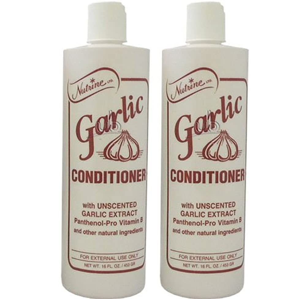 Nutrine Garlic Conditioner with Uncented 16oz (Pack of 2)