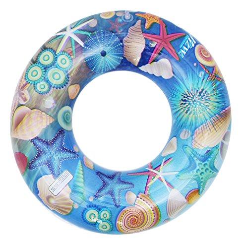 Eozy Baby Kinder Schwimmring Kleinkind Bunte Schwimmreifen Schwimmhilfe für 3-6 Jahre Blau Durchmesser 60cm
