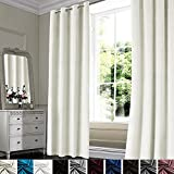 Topthumbs Grommet Velvet Curtains for Living Room 2...