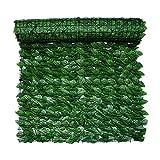 Tawohi 1 rotolo di siepe di edera artificiale, recinzione della pianta della privacy, recinzione artificiale della parete per la decorazione del giardino, schermo della siepe della privacy protetto UV