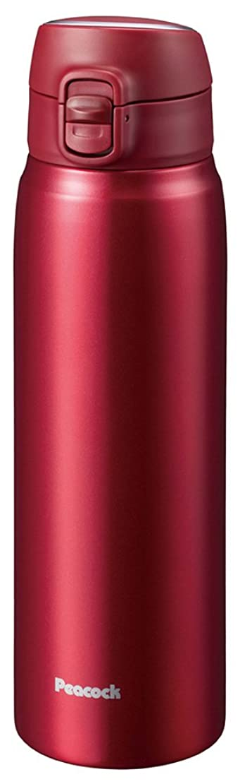 パプアニューギニアページウナギピーコック 水筒 ステンレスボトル ワンタッチタイプ レッド 700ml AMW-70 R