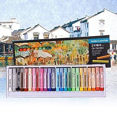Arts Oil Pastels Set,24 Colors Soft Pastel Penc...