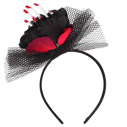Zcm Tocado de Halloween Tocado Llamativo Venda de los Accesorios del Pelo del Pelo Delicado único paño del Tocado de Partido de Las Muchachas de Las Mujeres (Color : Black)