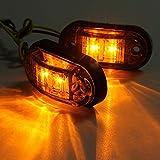 Ba30DEllylelly Professionale Piranha LED Auto Car Side Marker Lampeggiatore Luce Lampada per Rimorchi Camion Auto 12 / 24V Super Bright Light