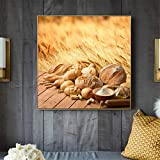 OKYQZ Küche Essen Leinwand Kunstdruck Malerei Brot Poster