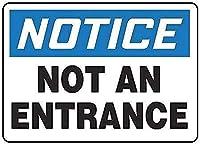 レトロなアルミ金属看板、入口ではない通知、錫壁看板レトロな鉄の絵ヴィンテージ金属ポスター警告プラークアート装飾バーカフェストアホームガレージ
