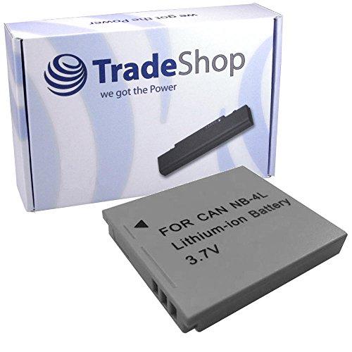 Trade Shop Trade-Shop–Batería de ion de litio para cámara Canon Digital IXUS 30, 40, 50, 55, 60, 65, 70, 75, 80IS IXUS 82IS IXUS 100IS i7PowerShot SD200, SD300, SD400, SD430, SD450, SD600, SD630TX1IXY Digital 40505555
