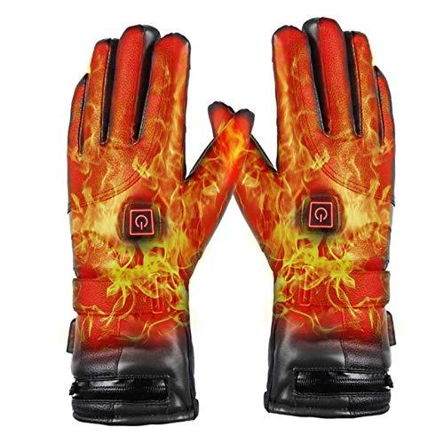 Photo de gants-chauffants-de-cuir-li-batterie-rechargeable