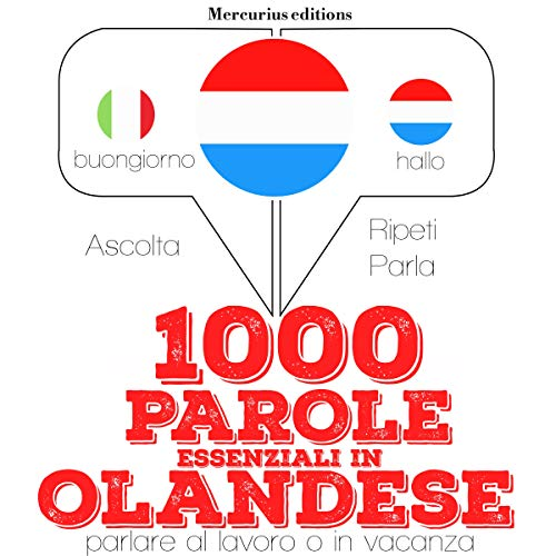 1000 parole essenziali in Olandese audiobook cover art