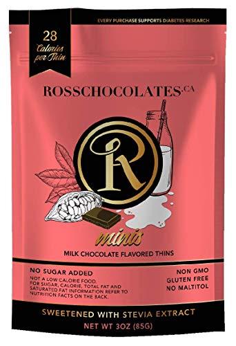 ROSS CHOCOLATES Keto Friendly Sugar Free Chocolate Plain Milk (Pouch)