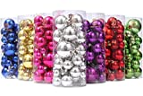 Sea Team Classic Various Sizes Barrel Plating Glaze Finish Solid Color Christmas Balls Ornaments Set Multicolor-Choice Festive Hanging Ornaments in Size of 1.57', 2.36' & 3.15', 36-Pack Silver