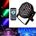 Disco Lights U`King 36 LEDs Strobe Lights 7 Lighting Modes DJ Light RGB Colourful Stage Lights (1 Pack)