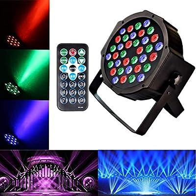 Disco Lights U`King 36 LEDs Strobe Lights 7 Lighting Modes DJ Light RGB Colourful Stage Lights (1 Pack)