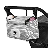 Stroller Organizer, Baby Stroller Pram Organizer Bag, Hanging Diaper Changing Bag with Bottle Holder for Pushchair, Fits All Strollers, Extra-Large Storage Space