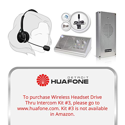Best Buy! (Kit #2): Long-Range Ultra-Capacity Wireless Headset Drive Thru Intercom System with Smart...