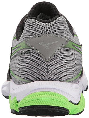 Mizuno Men's Wave Catalyst 2 Running Shoe, Charcoal/Green Flash, 11 D...
