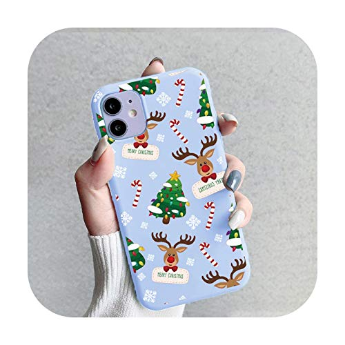 Fundas de dibujos animados de Navidad para iPhone 12 Pro Max Mini Fundas para iPhone 11 Pro MAX X XS XR SE 2020 7 8 6 6S 5 5S SE Plus TPU-sd3lut-Para iPhone 6 6S