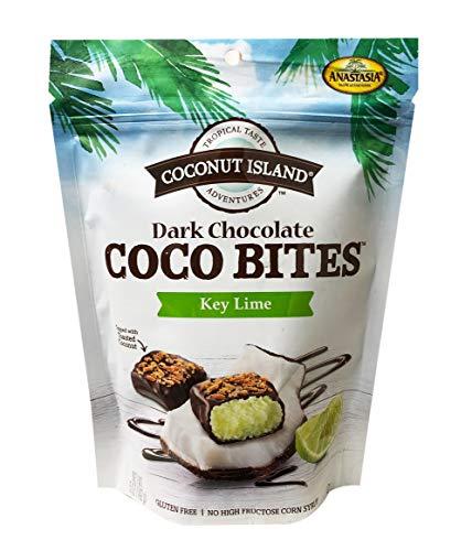 image of Anastasia Coconut Island Key Lime Dark Chocolate Coco bites