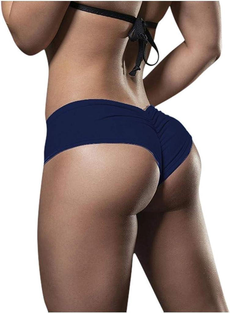HUANCO Damen Basic Slip Bike Shorts Kompression Workout Leggings Yoga Shorts Capris