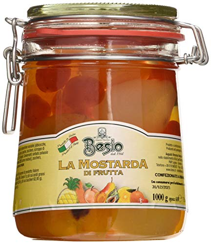 Besio Mostarda di Frutta Assortita Tipo Cremonese - 1000 Gr
