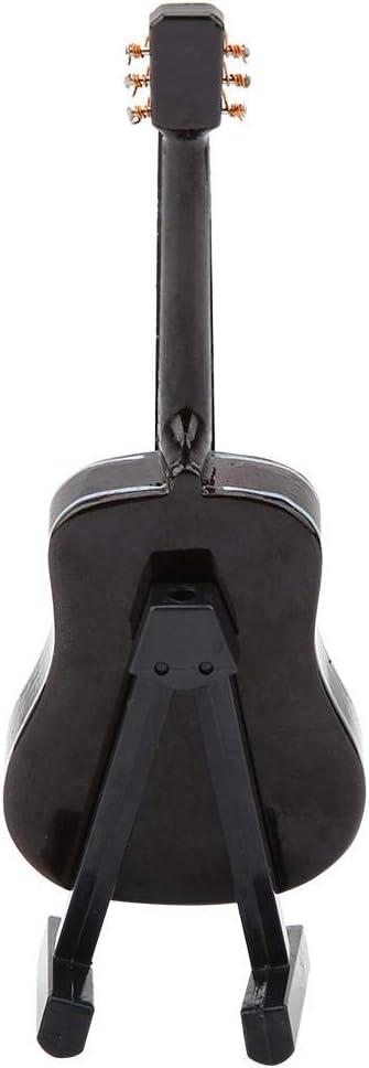 Mini Modelo de Guitarra en Miniatura de Madera con Soporte de Guitarra Modelo de Pantalla Mini Adornos para decoraci/ón de Oficina en casa Cumplea/ños 10 cm Atyhao Guitarra en Miniatura