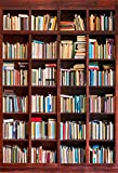 AOFOTO 3x5ft Bookshelf Background Bookcase Photography Backdrop Library Book Store Kid Adult Boy Girl Student Lovers Teenagers Portrait Photoshoot Studio Props Video Drape Seamless Wallpaper