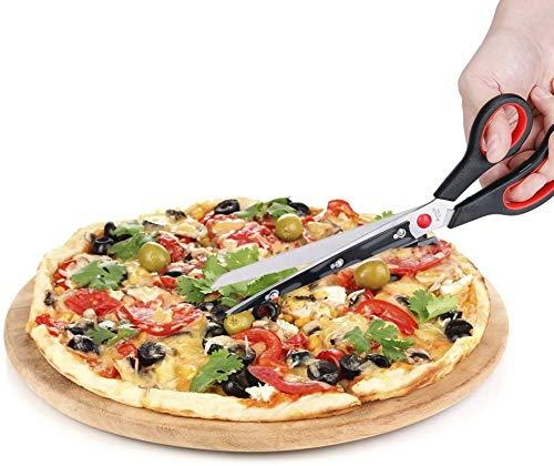 Ducomi - Tijeras Cortapizzas, Tijeras para Pizza de Acero con Base de Pala de Servicio para Hacer Deporte - Accesorios Profesionales de Cocina