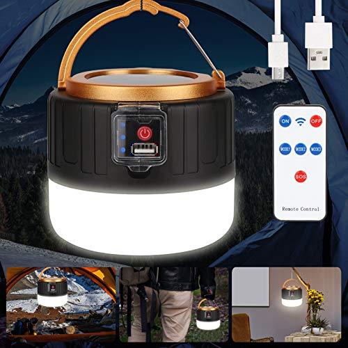 Etmury LED Campinglampe Solar USB Aufladbar Camping Laterne , Led Taschenlamp IPX6 Wasserdicht Dimmbar 2400mAh Notfallleuchte Zeltlicht für Camping, Wandern, Angeln, SOS, Ausfälle usw.