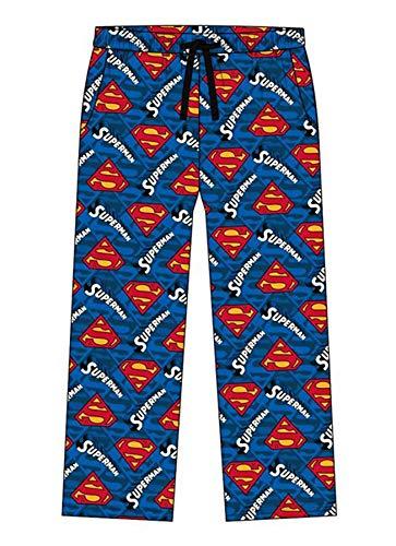 undercover lingerie Mens Superman Lounge Pants 31576 Blue (Loose Leg) Large