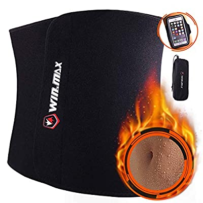 WIN.MAX Waist Trimmer Belt, Adjustable Weight Loss Exercise Ab Bel, Sweat Belt, Low Back and Lumbar Support with Sauna Suit Effect