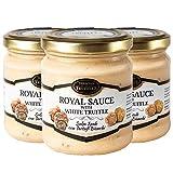 Trufa blanca Tuber borchii y Tuber MAGNATUM PICO  Royal  Salsa de comida gourmet Pasta con crema y queso, ideal para carne, pan a la parrilla, tortillas, pasta, risotto, sushi (3 x 80g)