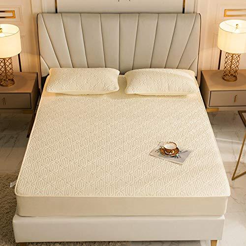 CYYyang Protector de colchón, algodón, poliéster, Una Sola Pieza de Funda Protectora de Color Puro para sábana-8_150 * 200cm