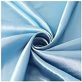 Tejidos De Satén Tejidos De Satén Cosidos Tejidos De Seda Por Metro Gris Azul Para Fiestas De Boda Forros Para Vestidos De Noche Forros Para Cajas De Regalo Hecho A Mano (Size:1.5M*6M,Color:Gris azul)