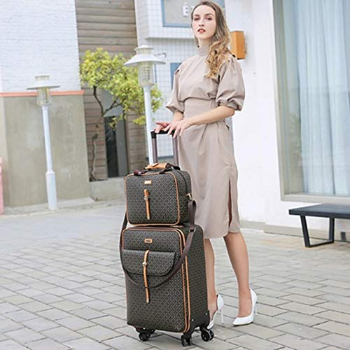 TUW 16''20/24inch Women's rolling luggage set trolley suitcase on wheels PU leather trolley luggage bag carry on suitcase,Luggage and handbag,24'