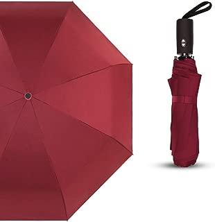 YQRYP Umbrella Custom Folding Dual-use Automatic Umbrella Folding Student Umbrella Pure Black Business Advertising Umbrella Windproof Umbrella, Golf Umbrella (Color : Red)
