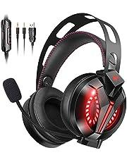 【PS4ヘッドセット】COMBATWING ゲーミングヘッドセットPC用ヘッドセット ゲーム用ヘッドホン 360度調節可能マイク 快適 軽量 高音質 PS4/PC/Mac/Switch/wiiu/スマホに対応 スカイプ fps 対応 男女兼用