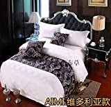 SjyBed Bettläufer Schal Spezielle Betten, stilvolles dekoratives Bett, Bettüberzug, viktorianisch,...