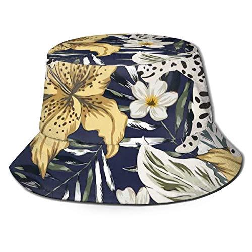 Toallas Springer Spaniel Perro Camping Sombrero de Pescador, Sombrero de Sol Unisex Ocio Protector Solar Sombrero de Cubo