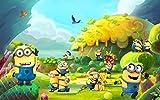 Gsrcto Tapeten Cartoon Photo Minions 3D Fototapete Kinder Schlafzimmer Dekor Kinderspielplatz-400cmx280cm