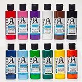 Monalisa peinture acrylique, kit de 12 couleurs 70ml, bois, pierre, aérographe, toile peinture, pour enfants, peintres et étudiants
