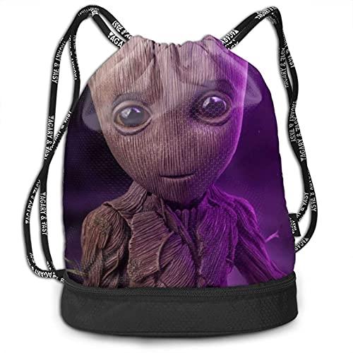 KINGAM Paquete de ciencia ficción mochila con cordón para gimnasio, deportes, bolsa de cuerda escolar, yoga, niños, hombres y mujeres, mochilas de viaje