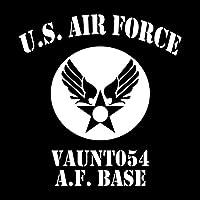 U.S AIR FORCE カッティングステッカー ホワイト 白