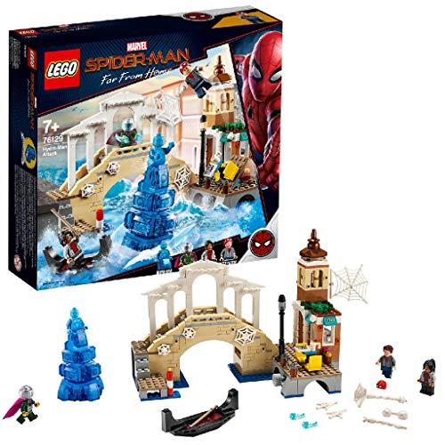 LEGO Marvel Super Heroes - Ataque de Hydro-Man, Juguete de Construcción de la Película Spider-Man Lejos de Casa, Incluye Minifiguras de MJ, Peter Parker y Mysterio (76129)