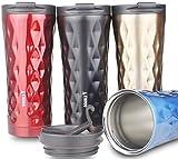 Double Y 500 ml Bouteille thermoses isotherme, Acier inoxydable Mug à café de...