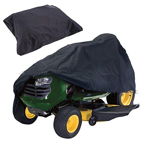 1 x wasserdichte Abdeckung für Rasenmäher, Oxford-Stoff, UV-beständig, Schutzabdeckung für Rasentraktor, Aufsitzmäher, Schutztasche (170 x 61 x 117 cm, schwarz)