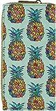 Damen-Portemonnaie in ausgefallenen Designs Geld Börse Beutel Handy Case Hülle Smartphone Pocket Purse Ananas bunt
