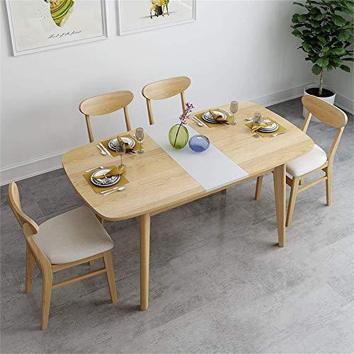 N/Z Living Equipment Dining Klapptisch Set Nordic Kitchen Esstisch mit 4 Stühlen Holztisch und Stühle Set Küchentisch und Stühle für 6 Personen