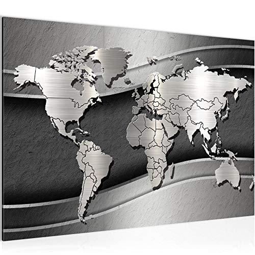 Bilder Weltkarte Abstrakt Wandbild 60 x 40 cm Vlies - Leinwand Bild XXL Format Wandbilder Wohnung Deko Kunstdrucke - MADE IN GERMANY - Fertig zum Aufhängen 107215a